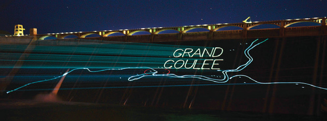 New laser light show graces face of Grand Coulee Dam